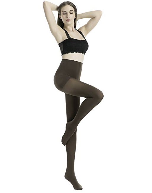 MANZI Women's 2-6 Pairs Opaque Control-Top Tights