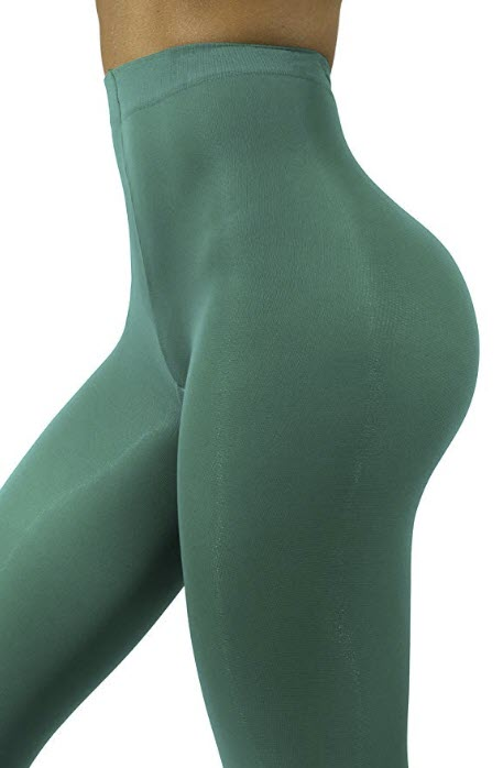 Opaque Microfibre Tights for Women - Invisibly Reinforced Opaque Brief Pantyhose